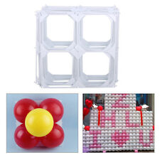 20pcs DIY Square 4 Hole Modeling Balloon Grid Wedding Party Wall Decoration