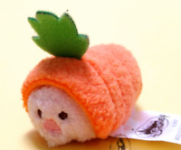 "New Disney TSUM TSUM Carrot Piglet Micro Mini Plush Toys Screen Cleaner 2.4""/6cm"