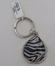 Brighton TRINITY Zebra Key Fob Swarovski Crystals E14680 NWT