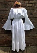 White hippie boho wedding beach medieval gothic festival dress size 16 to 20