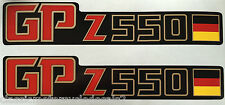 KAWASAKI GPZ550 GPZ550A GPZ550UT UNI-TRACK  SIDE PANEL DECALS GERMAN FLAG
