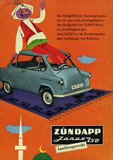 Zündapp - Janus 250 - Das Hochgefühl Faschingsstunden - Werbung von 1958 - Farbe