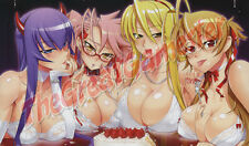Sexy Anime Girl in Lingerie Eating Cake Custom Playmat / Game Mat / Mat #123