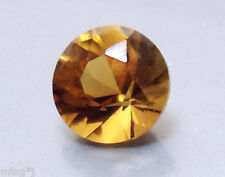 8 mm BRILLIANT ROUND NATURAL COGNAC QUARTZ #R503
