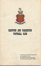 More details for harwich & parkeston v west ham united (opening of floodlights) 1968/1969