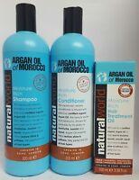 Natural World Moroccan Argan Oil Shampoo / Conditioner / Treatment Oil**UK**
