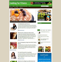 COOKING FOR FOR FITNESS IDEAS BLOG/WEBSITE + AFFILIATE STORE & BANNERS