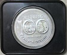 1974 Canada Winnipeg Centennial Silver Dollar (Uncirculated)   #35190