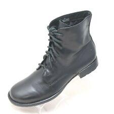 Born Women's Sz 7 Black Leather Lace Up Combat Ankle Boots Style B30303