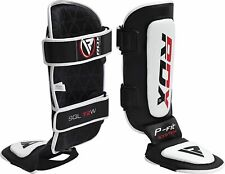 RDX Shin Instep Guards Pads MMA Legs Foot Protection Training Kick Boxing