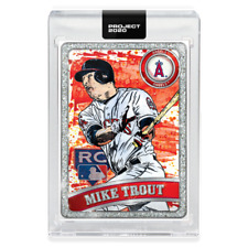 Topps PROJECT 2020 Card 100 - 2011 Mike Trout by Blake Jamieson & Ben Baller