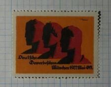 German Commercial Trade Exhibition Munchen 1922 Exposition Poster Stamp Ads