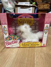 Vintage 1993 Mattel Barbie Puppy Ruff Scottish Terrier Dog/Mitzi Meow Kitty Cat