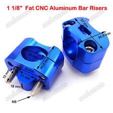 "1 1/8"" Blue Handlebar Clamp Adapter Risers Pit Dirt Bike ATV Quad Mini Motocross"