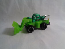 Hot Wheels Diecast Plastic Wheel Loader Green Dirt Mover - As Is