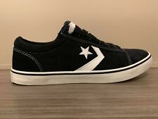69b9c289bba5e8 Converse BADGE OX Suede SKATE Shoes size Men s 10 BLACK 121708