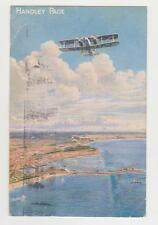 Handley Page Air Service,Early Bi-Plane Over English Channel,U.K.TUCK,Used,1922