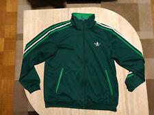 Orginal Adidas Firebird Jacke dunkelgrün/weiß/grün Gr. L Traningsjacke retro