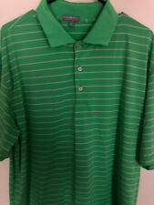 Peter Millar Summer Comfort Polo Golf Shirt Size Extra Large Xl Green White