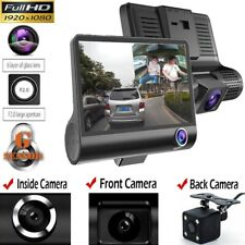 "1080P 4"" Dual Lens HD Car DVR Rearview Video Dash Cam Recorder Camera G-sensor#"