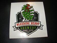 BLEEDING HEART BREWERY Palmer Alaska black dct STICKER decal craft beer brewing