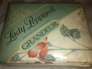 NEW LADY PEPPERELL 3-Piece Twin Sheet Set Grandeur Early Morn w/Pillow Case