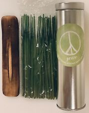 Peace, Quantity 30 Incense Sticks with Wooden Holder, Woody Floral Scent 3 in 1