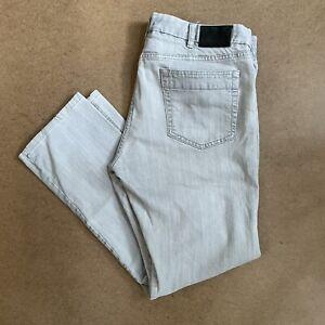 Ermenegildo Zegna Sport Jeans Stretch Regular Fit Stone Grey Wash 38