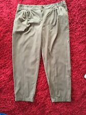 Pants Chocolate Brown Stretchy Cuffed Bow In Front Size 14 Forever New