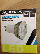 Aurora AU-DGU106A/40 dimmable 6w LED GU10 bulb Lamp Cool White