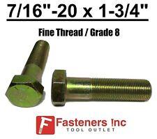716 20 X 1 34 Pt Hex Bolt Yellow Zinc Plated Grade 8 Cap Screw Fine Thread