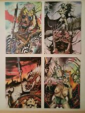 Eric Larnoy 4 cartes postales Kamelia Nomade du soir Numah Le Crâne blanc 1984