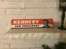 "VINTAGE UNUSED ""KENNEDY FOR PRESIDENT"" BUMPER STICKER, 1960"