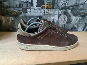 Adidas Stan Smith Vintage Men's Leather Brown Trainers Size UK 11 EU 47