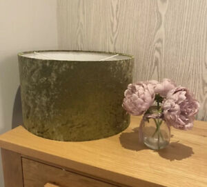 Handmade Lampshade in an Olive Green Velvet look fabric, Various sizes