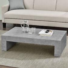 EncasaR Couchtisch Beton Grau 110x70cm Wohnzimmertisch Beistelltisch Tisch