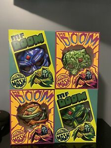 MF DOOM Limited Edition Collectible Masks - Set of 4 - Only 3000 Made! Sold Out!