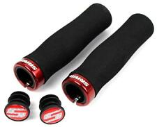 SRAM Locking Foam Contour MTB Handlebar Grips Lock-On Single Clamps Black / Red