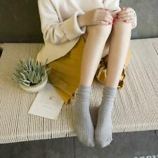 Women  Socks Thin Socks Solid Color Preppy Mid-Calf Length Socks