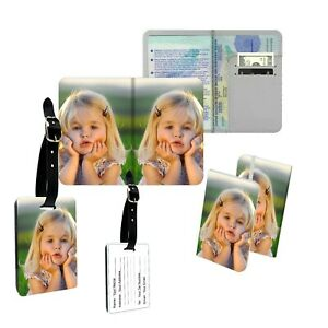 Personalised Single Photo Passport Slim Cover Holder Luggage Tag