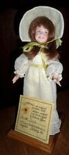 RARE Dianna Effner Carrie Doll Porcelain Wildflowers Series #9/25 COA