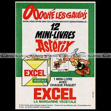 ASTERIX & Margarine EXCEL 'Les mini-livres' 1967 - Pub / Publicité / Ad #A18