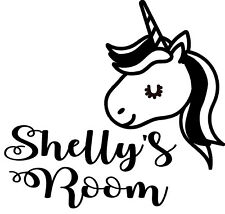 Unicorn Bedroom Door/Wall Decal - You can have any name you want            D2