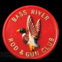 VINTAGE BASS RIVER NEW JERSEY ROD & GUN CLUB SPORTSMAN FISHING HUNTING NJ !