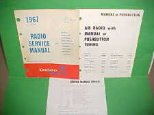 1967 CAMARO CHEVELLE SS EL CAMINO 442 FIREBIRD GTO DELCO AM RADIO SERVICE MANUAL