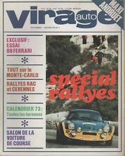 VIRAGE AUTO 1973 1 ESSAI LIGIER JS2 FERRARI 365 GT4 BB RAC RALLY CEVENNES F5000