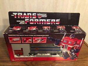 New Transformers G1 Optimus prime reissue Mint metal front ACTION FIGURE Black