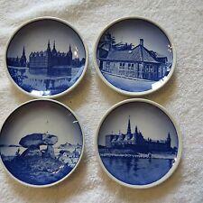 Lot Of 4 Vintage Miniature Danish Royal Copenhagen Plates (10,4)