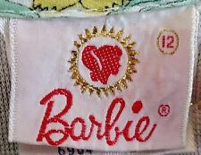 Rare Vintage Barbie Logo Girls Junior Blouse Size 12 -1964 Sears Catalog Bin!