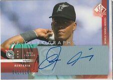 Edgar Renteria 2003 UD SP Authentic Chirography autograph auto card ER /220